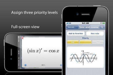 Formule di matematica, fisica e chimica su iPhone: iScience