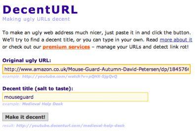 DecentURL screenshot