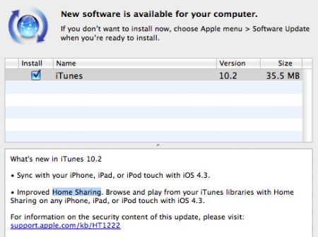 Apple iTunes 10.2 disponibile per il download