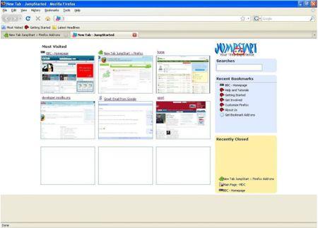 JumpStart: il nuovo tab di Chrome su Firefox