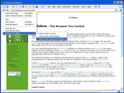 K-Meleon screenshot