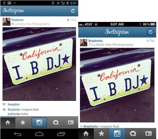layout instagram