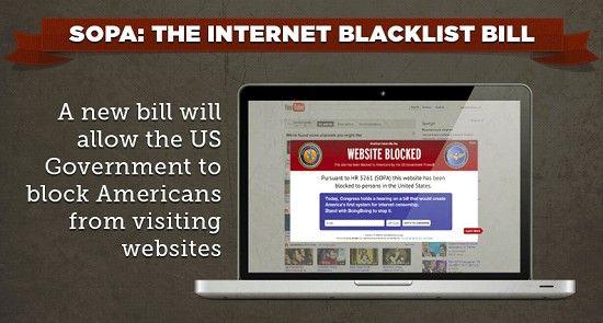 Legge SOPA: Google, Facebook e Twitter minacciano un blackout di protesta