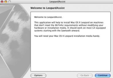 LeopardAssist, per installare Leopard sui vecchi Mac