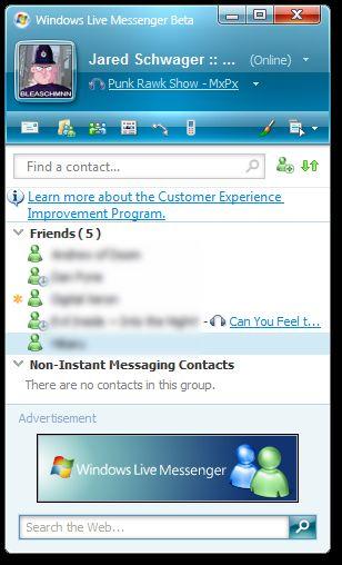 live messenger senza ad