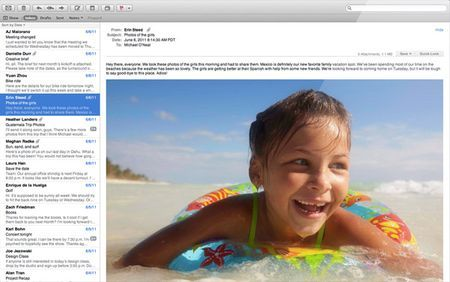 mac os x lion mail