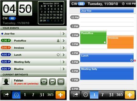 Calendario per iPhone, iPod Touch e iPad: miCal