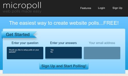 micropoll creare sondaggi online
