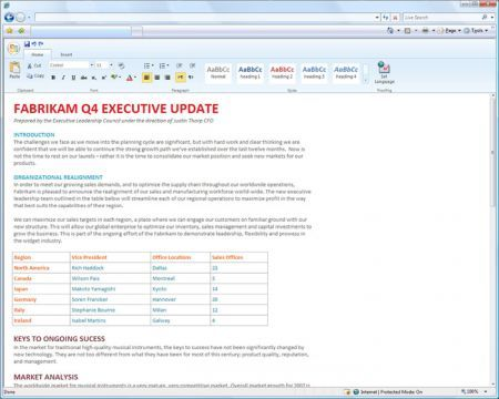 Microsoft office suite online