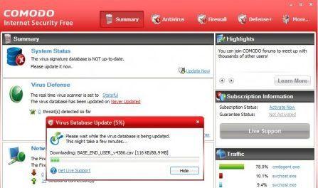 miglior antivirus free 2011 comodo internet security