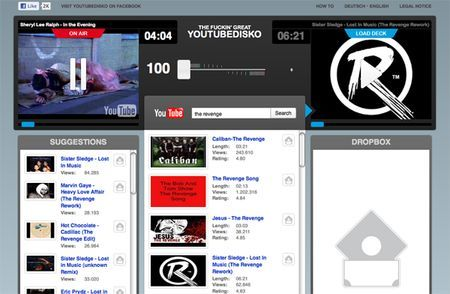 Mixare video di YouTube con YouTubeDisko