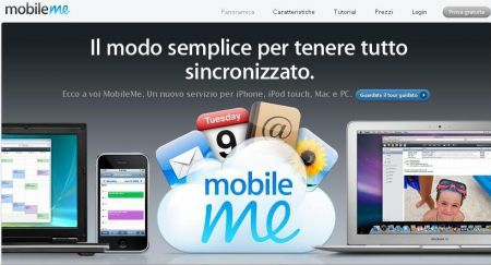 Home di MobileMe