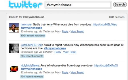 Il ricordo di Amy Winehouse passa per YouTube, Facebook e Twitter