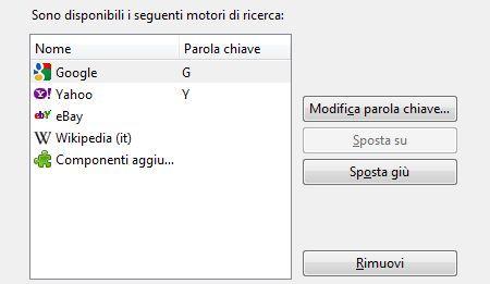 Motori di ricerca: come gestirli su Mozilla Firefox