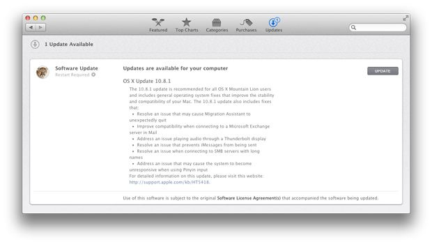 mountain lion os x batteria