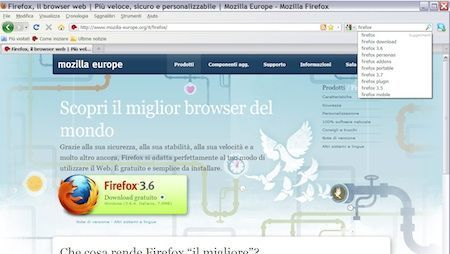 mozilla firefox 11 casella google