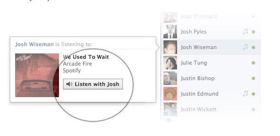 La musica su Facebook si ascolta in streaming con gli amici grazie a