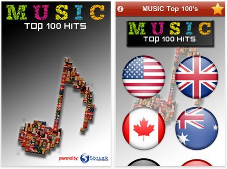 musica iphone music top 100s hits