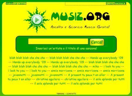 Come cercare musica on line con Musiz