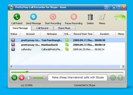 Musica online: come condividerla su Skype con PrettyMay Call Recorder