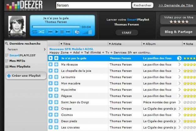 musica streaming deezer