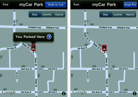 Ritrovare il parcheggio con MyCar Park sull'iPhone
