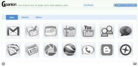 Google: tutti i servizi in un'unica pagina con GPanion