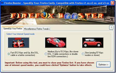 Rendere più veloce Firefox con Firefox Booster