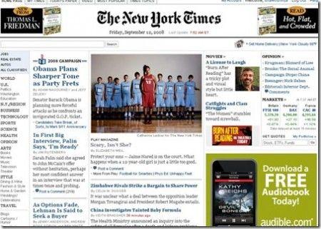 New York Times online: l'informazione sarà a pagamento
