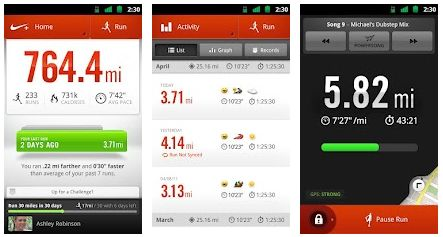 Nike+ per Android disponibile su Google Play