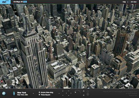 Ovi Maps 3D: Nokia sfida Google Earth