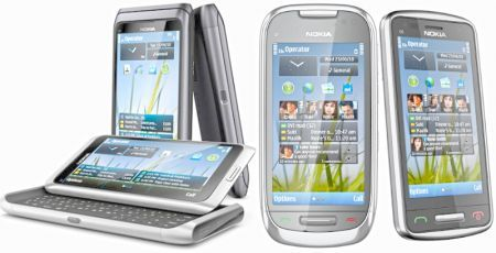 Nokia: in arrivo tre smartphone con Symbian 3