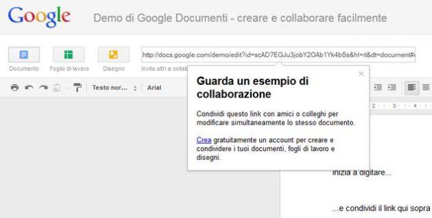 nuovi documenti google docs