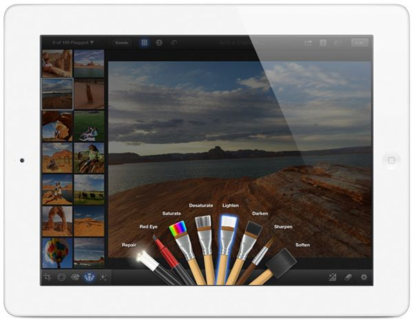 Nuovo iPad: la presentazione di iPhoto sul tablet Apple