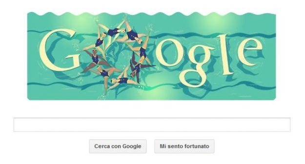 olimpiadi londra 2012 google doodle nuoto sincronizzato