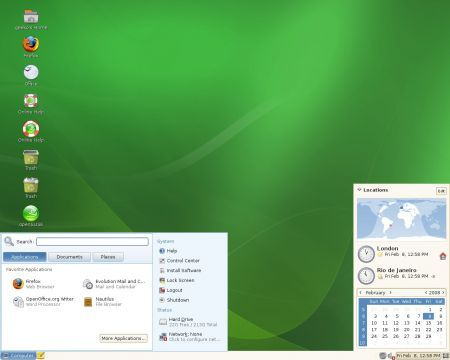 openSUSE screenshot