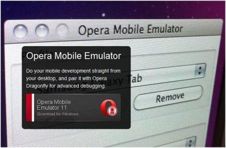 Usare Opera Mobile dal desktop grazie ad un emulatore