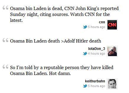 Osama Bin Laden morto: su Twitter le prime voci