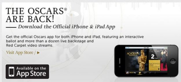 oscar 2012 app ufficiale