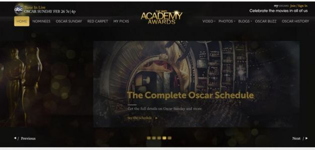 oscar 2012 sito ufficiale