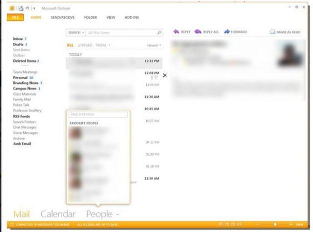 Microsoft Outlook cambia grafica con social network, Peeks e non solo