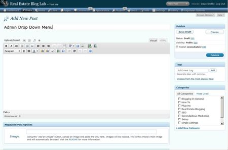 ozh drop down menu plugin per wordpress