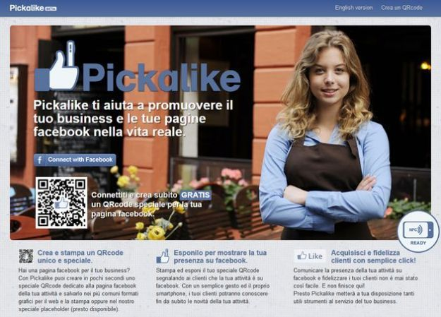 pagine facebook qrcode pickalike