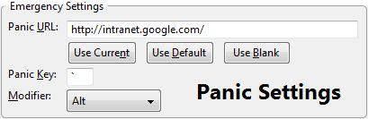 Panic nasconde i siti