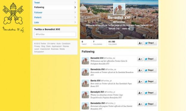 papa su twitter pontifex