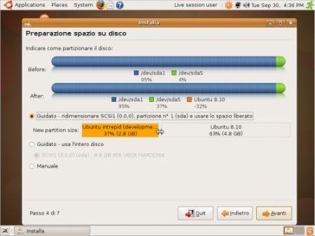 partizionatura ubuntu