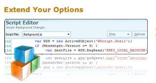 personalizzare msn script