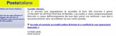 phishing poste italiane