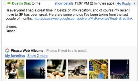 picasa gmail preview