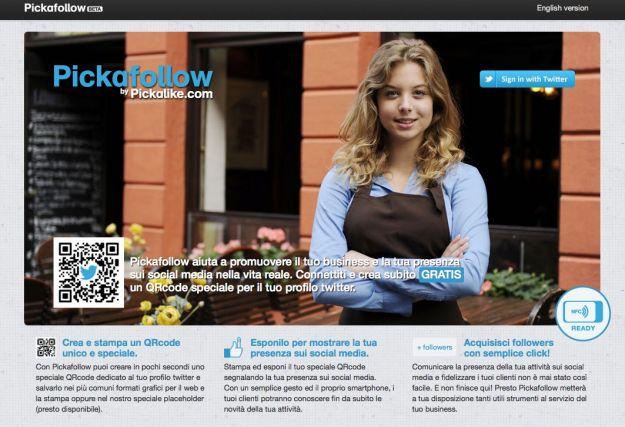 Trucchi Twitter: promuovere i profili tramite un QRcode con Pickafollow